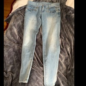 Authentic Michael Kors Ankle Zip Skinny Jeans